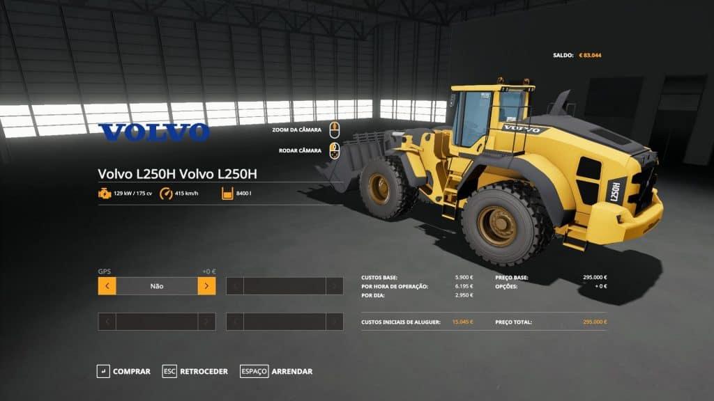 Volvo 250H v0.1 for LS 2017 Farming Simulator 17 Forklifts